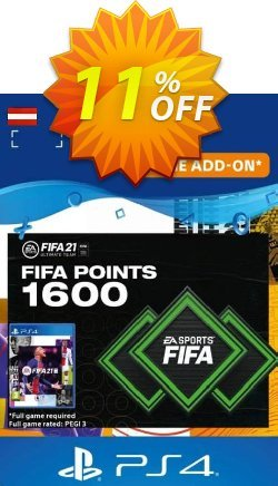 FIFA 21 Ultimate Team 1600 Points Pack PS4/PS5 - Austria  Coupon discount FIFA 21 Ultimate Team 1600 Points Pack PS4/PS5 (Austria) Deal 2021 CDkeys - FIFA 21 Ultimate Team 1600 Points Pack PS4/PS5 (Austria) Exclusive Sale offer for iVoicesoft
