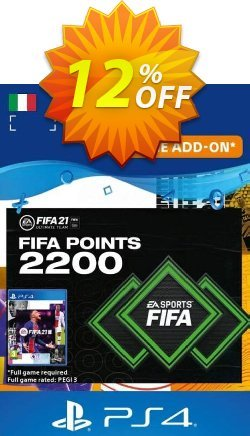 FIFA 21 Ultimate Team 2200 Points Pack PS4/PS5 - Italy  Coupon discount FIFA 21 Ultimate Team 2200 Points Pack PS4/PS5 (Italy) Deal 2021 CDkeys - FIFA 21 Ultimate Team 2200 Points Pack PS4/PS5 (Italy) Exclusive Sale offer for iVoicesoft