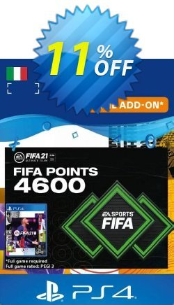 FIFA 21 Ultimate Team 4600 Points Pack PS4/PS5 - Italy  Coupon discount FIFA 21 Ultimate Team 4600 Points Pack PS4/PS5 (Italy) Deal 2021 CDkeys - FIFA 21 Ultimate Team 4600 Points Pack PS4/PS5 (Italy) Exclusive Sale offer for iVoicesoft