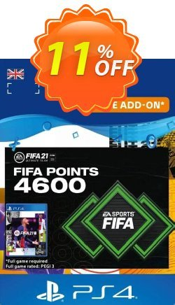 FIFA 21 Ultimate Team 4600 Points Pack PS4/PS5 - UK  Coupon discount FIFA 21 Ultimate Team 4600 Points Pack PS4/PS5 (UK) Deal 2021 CDkeys - FIFA 21 Ultimate Team 4600 Points Pack PS4/PS5 (UK) Exclusive Sale offer for iVoicesoft