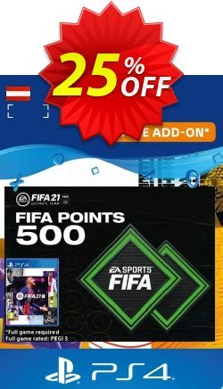 FIFA 21 Ultimate Team 500 Points Pack PS4/PS5 - Austria  Coupon discount FIFA 21 Ultimate Team 500 Points Pack PS4/PS5 (Austria) Deal 2021 CDkeys - FIFA 21 Ultimate Team 500 Points Pack PS4/PS5 (Austria) Exclusive Sale offer for iVoicesoft