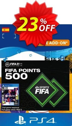 FIFA 21 Ultimate Team 500 Points Pack PS4/PS5 - Spain  Coupon discount FIFA 21 Ultimate Team 500 Points Pack PS4/PS5 (Spain) Deal 2021 CDkeys - FIFA 21 Ultimate Team 500 Points Pack PS4/PS5 (Spain) Exclusive Sale offer for iVoicesoft
