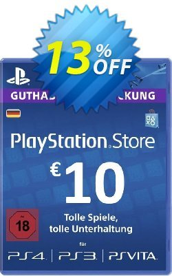 PlayStation Network - PSN Card - 10 EUR - Germany  Coupon discount PlayStation Network (PSN) Card - 10 EUR (Germany) Deal 2021 CDkeys - PlayStation Network (PSN) Card - 10 EUR (Germany) Exclusive Sale offer for iVoicesoft