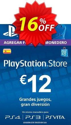 PlayStation Network - PSN Card - 12 EUR - Spain  Coupon discount PlayStation Network (PSN) Card - 12 EUR (Spain) Deal 2021 CDkeys - PlayStation Network (PSN) Card - 12 EUR (Spain) Exclusive Sale offer for iVoicesoft