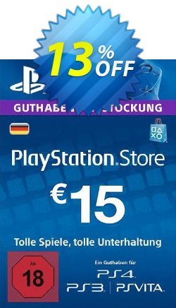 PlayStation Network - PSN Card - 15 EUR - Germany  Coupon discount PlayStation Network (PSN) Card - 15 EUR (Germany) Deal 2021 CDkeys - PlayStation Network (PSN) Card - 15 EUR (Germany) Exclusive Sale offer for iVoicesoft