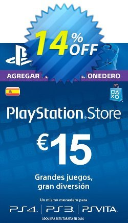 PlayStation Network - PSN Card - 15 EUR - Spain  Coupon discount PlayStation Network (PSN) Card - 15 EUR (Spain) Deal 2021 CDkeys - PlayStation Network (PSN) Card - 15 EUR (Spain) Exclusive Sale offer for iVoicesoft