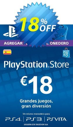 PlayStation Network - PSN Card - 18 EUR - Spain  Coupon discount PlayStation Network (PSN) Card - 18 EUR (Spain) Deal 2021 CDkeys - PlayStation Network (PSN) Card - 18 EUR (Spain) Exclusive Sale offer for iVoicesoft