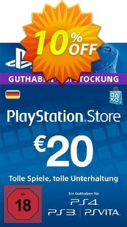PlayStation Network - PSN Card - 20 EUR - Germany  Coupon discount PlayStation Network (PSN) Card - 20 EUR (Germany) Deal 2021 CDkeys - PlayStation Network (PSN) Card - 20 EUR (Germany) Exclusive Sale offer for iVoicesoft