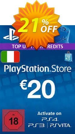 PlayStation Network - PSN Card - 20 EUR - Italy  Coupon discount PlayStation Network (PSN) Card - 20 EUR (Italy) Deal 2021 CDkeys - PlayStation Network (PSN) Card - 20 EUR (Italy) Exclusive Sale offer for iVoicesoft