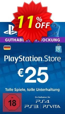 PlayStation Network - PSN Card - 25 EUR - Germany  Coupon discount PlayStation Network (PSN) Card - 25 EUR (Germany) Deal 2021 CDkeys - PlayStation Network (PSN) Card - 25 EUR (Germany) Exclusive Sale offer for iVoicesoft