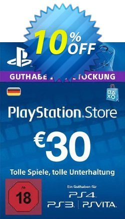 PlayStation Network - PSN Card - 30 EUR - Germany  Coupon discount PlayStation Network (PSN) Card - 30 EUR (Germany) Deal 2021 CDkeys - PlayStation Network (PSN) Card - 30 EUR (Germany) Exclusive Sale offer for iVoicesoft