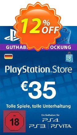 PlayStation Network - PSN Card - 35 EUR - Germany  Coupon discount PlayStation Network (PSN) Card - 35 EUR (Germany) Deal 2021 CDkeys - PlayStation Network (PSN) Card - 35 EUR (Germany) Exclusive Sale offer for iVoicesoft