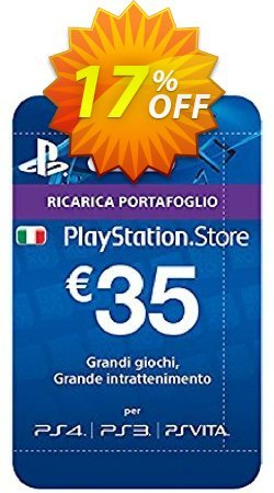 PlayStation Network - PSN Card - 35 EUR - Italy  Coupon discount PlayStation Network (PSN) Card - 35 EUR (Italy) Deal 2021 CDkeys - PlayStation Network (PSN) Card - 35 EUR (Italy) Exclusive Sale offer for iVoicesoft