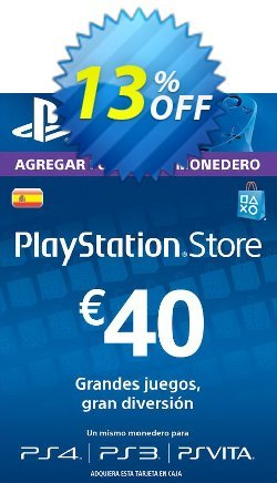PlayStation Network - PSN Card - 40 EUR - Spain  Coupon discount PlayStation Network (PSN) Card - 40 EUR (Spain) Deal 2021 CDkeys - PlayStation Network (PSN) Card - 40 EUR (Spain) Exclusive Sale offer for iVoicesoft