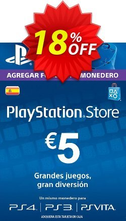 PlayStation Network - PSN Card - 5 EUR - Spain  Coupon discount PlayStation Network (PSN) Card - 5 EUR (Spain) Deal 2021 CDkeys - PlayStation Network (PSN) Card - 5 EUR (Spain) Exclusive Sale offer for iVoicesoft