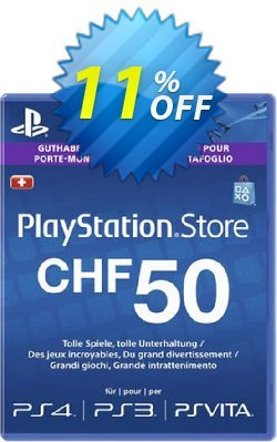 PlayStation Network - PSN Card - 50 CHF - Switzerland  Coupon discount PlayStation Network (PSN) Card - 50 CHF (Switzerland) Deal 2021 CDkeys - PlayStation Network (PSN) Card - 50 CHF (Switzerland) Exclusive Sale offer for iVoicesoft