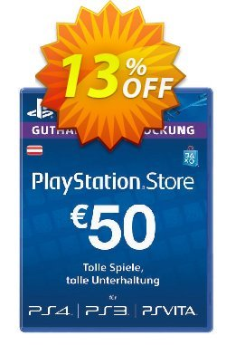 PlayStation Network - PSN Card - 50 EUR - Austria  Coupon discount PlayStation Network (PSN) Card - 50 EUR (Austria) Deal 2021 CDkeys - PlayStation Network (PSN) Card - 50 EUR (Austria) Exclusive Sale offer for iVoicesoft