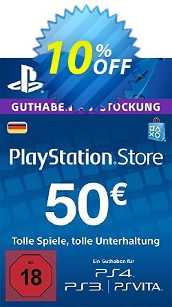 PlayStation Network - PSN Card - 50 EUR - Germany  Coupon discount PlayStation Network (PSN) Card - 50 EUR (Germany) Deal 2021 CDkeys - PlayStation Network (PSN) Card - 50 EUR (Germany) Exclusive Sale offer for iVoicesoft