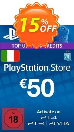 PlayStation Network - PSN Card - 50 EUR - Italy  Coupon discount PlayStation Network (PSN) Card - 50 EUR (Italy) Deal 2021 CDkeys - PlayStation Network (PSN) Card - 50 EUR (Italy) Exclusive Sale offer for iVoicesoft