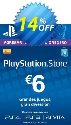 PlayStation Network - PSN Card - 6 EUR - Spain  Coupon discount PlayStation Network (PSN) Card - 6 EUR (Spain) Deal 2021 CDkeys - PlayStation Network (PSN) Card - 6 EUR (Spain) Exclusive Sale offer for iVoicesoft