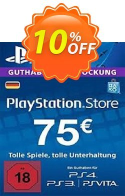 PlayStation Network - PSN Card - 75 EUR - Germany  Coupon discount PlayStation Network (PSN) Card - 75 EUR (Germany) Deal 2021 CDkeys - PlayStation Network (PSN) Card - 75 EUR (Germany) Exclusive Sale offer for iVoicesoft