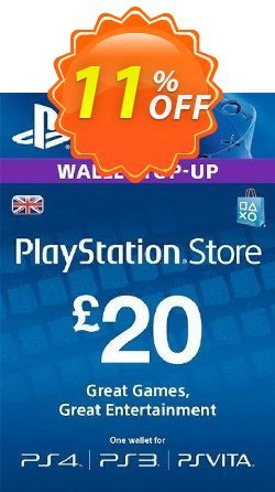 Playstation Network Card - £20 - PS Vita/PS3/PS4  Coupon discount Playstation Network Card - £20 (PS Vita/PS3/PS4) Deal 2021 CDkeys - Playstation Network Card - £20 (PS Vita/PS3/PS4) Exclusive Sale offer for iVoicesoft