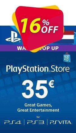 PlayStation Network - PSN Card - 35 EUR - Netherlands  Coupon discount PlayStation Network (PSN) Card - 35 EUR (Netherlands) Deal 2021 CDkeys - PlayStation Network (PSN) Card - 35 EUR (Netherlands) Exclusive Sale offer for iVoicesoft