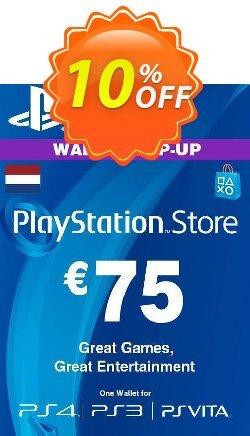 PlayStation Network - PSN Card - 75 EUR - Netherlands  Coupon discount PlayStation Network (PSN) Card - 75 EUR (Netherlands) Deal 2021 CDkeys - PlayStation Network (PSN) Card - 75 EUR (Netherlands) Exclusive Sale offer for iVoicesoft
