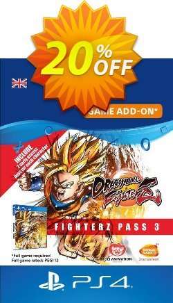 Dragon Ball Fighterz - Fighter pass 3 PS4 UK Coupon discount Dragon Ball Fighterz - Fighter pass 3 PS4 UK Deal 2021 CDkeys - Dragon Ball Fighterz - Fighter pass 3 PS4 UK Exclusive Sale offer for iVoicesoft