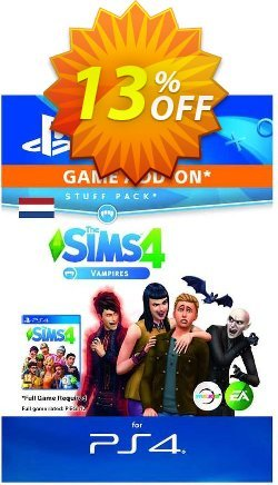 The Sims 4 - Vampires Expansion Pack PS4 - Netherlands  Coupon discount The Sims 4 - Vampires Expansion Pack PS4 (Netherlands) Deal 2021 CDkeys - The Sims 4 - Vampires Expansion Pack PS4 (Netherlands) Exclusive Sale offer for iVoicesoft