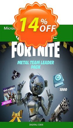 Fortnite - Metal Team Leader Pack Xbox One - US  Coupon discount Fortnite - Metal Team Leader Pack Xbox One (US) Deal 2021 CDkeys - Fortnite - Metal Team Leader Pack Xbox One (US) Exclusive Sale offer for iVoicesoft