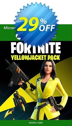 Fortnite - The Yellow Jacket Pack Xbox One - UK  Coupon discount Fortnite - The Yellow Jacket Pack Xbox One (UK) Deal 2021 CDkeys. Promotion: Fortnite - The Yellow Jacket Pack Xbox One (UK) Exclusive Sale offer for iVoicesoft