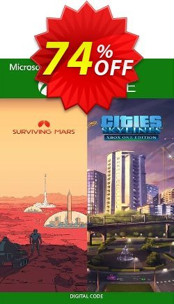 Cities: Skylines + Surviving Mars Xbox One - UK  Coupon discount Cities: Skylines + Surviving Mars Xbox One (UK) Deal 2021 CDkeys - Cities: Skylines + Surviving Mars Xbox One (UK) Exclusive Sale offer for iVoicesoft