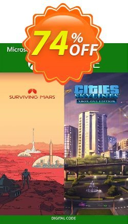 Cities: Skylines + Surviving Mars Xbox One - US  Coupon discount Cities: Skylines + Surviving Mars Xbox One (US) Deal 2021 CDkeys - Cities: Skylines + Surviving Mars Xbox One (US) Exclusive Sale offer for iVoicesoft