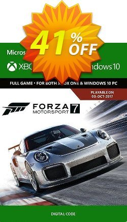 Forza Motorsport 7 Standard Edition Xbox One/PC - UK  Coupon discount Forza Motorsport 7 Standard Edition Xbox One/PC (UK) Deal 2021 CDkeys - Forza Motorsport 7 Standard Edition Xbox One/PC (UK) Exclusive Sale offer for iVoicesoft