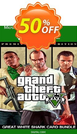 Grand Theft Auto V: Premium Online Edition & Great White Shark Card Bundle Xbox One - UK  Coupon discount Grand Theft Auto V: Premium Online Edition & Great White Shark Card Bundle Xbox One (UK) Deal 2021 CDkeys - Grand Theft Auto V: Premium Online Edition & Great White Shark Card Bundle Xbox One (UK) Exclusive Sale offer for iVoicesoft
