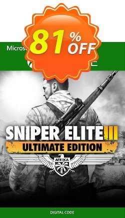 Sniper Elite 3 - Ultimate Edition Xbox One - UK  Coupon discount Sniper Elite 3 - Ultimate Edition Xbox One (UK) Deal 2021 CDkeys - Sniper Elite 3 - Ultimate Edition Xbox One (UK) Exclusive Sale offer for iVoicesoft