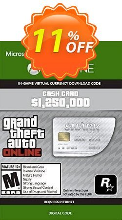 Grand Theft Auto V - Great White Shark Cash Card Xbox One - EU  Coupon discount Grand Theft Auto V - Great White Shark Cash Card Xbox One (EU) Deal 2021 CDkeys - Grand Theft Auto V - Great White Shark Cash Card Xbox One (EU) Exclusive Sale offer for iVoicesoft