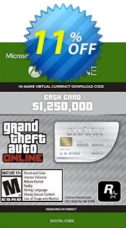 Grand Theft Auto V - Great White Shark Cash Card Xbox One - UK  Coupon discount Grand Theft Auto V - Great White Shark Cash Card Xbox One (UK) Deal 2021 CDkeys - Grand Theft Auto V - Great White Shark Cash Card Xbox One (UK) Exclusive Sale offer for iVoicesoft