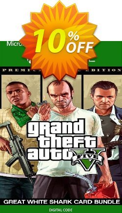 Grand Theft Auto V Premium Online Edition & Great White Shark Card Bundle Xbox One - EU  Coupon discount Grand Theft Auto V Premium Online Edition & Great White Shark Card Bundle Xbox One (EU) Deal 2021 CDkeys - Grand Theft Auto V Premium Online Edition & Great White Shark Card Bundle Xbox One (EU) Exclusive Sale offer for iVoicesoft