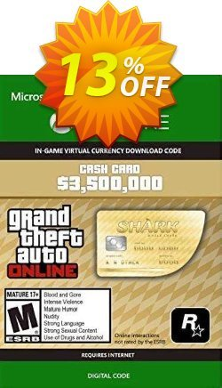 Grand Theft Auto V - Whale Shark Cash Card Xbox One - UK  Coupon discount Grand Theft Auto V - Whale Shark Cash Card Xbox One (UK) Deal 2021 CDkeys - Grand Theft Auto V - Whale Shark Cash Card Xbox One (UK) Exclusive Sale offer for iVoicesoft