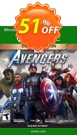 Marvel's Avengers Deluxe Edition Xbox One - UK  Coupon discount Marvel's Avengers Deluxe Edition Xbox One (UK) Deal 2021 CDkeys. Promotion: Marvel's Avengers Deluxe Edition Xbox One (UK) Exclusive Sale offer for iVoicesoft
