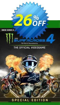Monster Energy Supercross 4 Special Edition Xbox One - UK  Coupon discount Monster Energy Supercross 4 Special Edition Xbox One (UK) Deal 2021 CDkeys - Monster Energy Supercross 4 Special Edition Xbox One (UK) Exclusive Sale offer for iVoicesoft