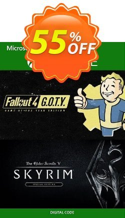 Skyrim Special Edition and Fallout G.O.T.Y Bundle Xbox One - UK  Coupon discount Skyrim Special Edition and Fallout G.O.T.Y Bundle Xbox One (UK) Deal 2021 CDkeys - Skyrim Special Edition and Fallout G.O.T.Y Bundle Xbox One (UK) Exclusive Sale offer for iVoicesoft