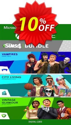 The Sims 4 Bundle - City Living, Vampires, Vintage Glamour Stuff Xbox One Coupon discount The Sims 4 Bundle - City Living, Vampires, Vintage Glamour Stuff Xbox One Deal 2021 CDkeys - The Sims 4 Bundle - City Living, Vampires, Vintage Glamour Stuff Xbox One Exclusive Sale offer for iVoicesoft