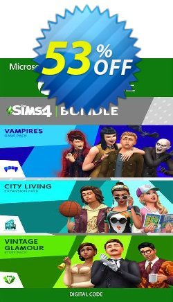 The Sims 4 Bundle - City Living, Vampires, Vintage Glamour Stuff Xbox One - UK  Coupon discount The Sims 4 Bundle - City Living, Vampires, Vintage Glamour Stuff Xbox One (UK) Deal 2021 CDkeys - The Sims 4 Bundle - City Living, Vampires, Vintage Glamour Stuff Xbox One (UK) Exclusive Sale offer for iVoicesoft
