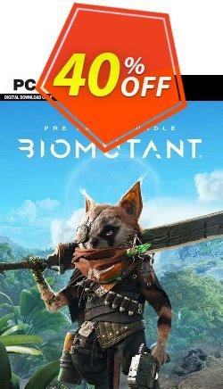 Biomutant + Pre-Order Bonus PC Coupon discount Biomutant + Pre-Order Bonus PC Deal 2021 CDkeys. Promotion: Biomutant + Pre-Order Bonus PC Exclusive Sale offer for iVoicesoft