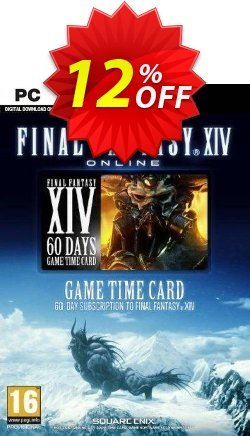 Final Fantasy XIV 14: A Realm Reborn 60 Day Time Card PC - US  Coupon discount Final Fantasy XIV 14: A Realm Reborn 60 Day Time Card PC (US) Deal 2021 CDkeys. Promotion: Final Fantasy XIV 14: A Realm Reborn 60 Day Time Card PC (US) Exclusive Sale offer for iVoicesoft