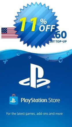 PlayStation Network - PSN Card - 60 USD - USA  Coupon discount PlayStation Network (PSN) Card - 60 USD (USA) Deal 2021 CDkeys. Promotion: PlayStation Network (PSN) Card - 60 USD (USA) Exclusive Sale offer for iVoicesoft
