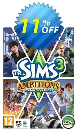 The Sims 3: Ambitions - PC/Mac  Coupon discount The Sims 3: Ambitions (PC/Mac) Deal. Promotion: The Sims 3: Ambitions (PC/Mac) Exclusive offer for iVoicesoft